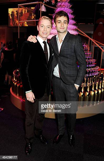 Freddie Fox and Douglas Booth attend the Moet Reception at the Moet British Independent Film Awards 2013 at Old Billingsgate Market on December 8...