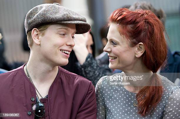 Freddie Fox and Emilia Fox attend the Topman show during London Fashion Week Autumn/Winter 2012 at the Royal Opera House on February 22 2012 in...