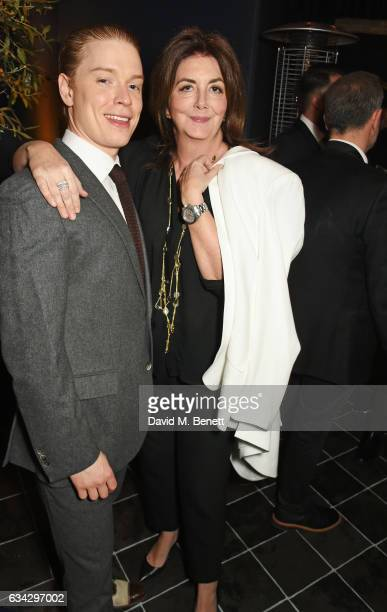 Freddie Fox and Kate Lenahan attend the dunhill and Dylan Jones preBAFTA dinner and cocktail reception celebrating Gentlemen in Film at Bourdon House...