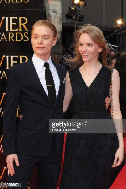 Freddie Fox and Tamzin Merchant attend the 2012 Olivier Awards at The Royal Opera House on April 15 2012 in London England