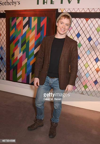 Freddie Fox attends Sotheby's to preview iconic items from The Ivy restaurant that will be going under the hammer on Wednesday 25th March to raise...
