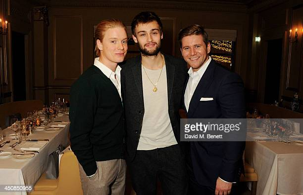 Freddie Fox Douglas Booth and Allen Leech attend an exclusive dinner hosted by Mulberry and MR PORTER to celebrate the launch of the new Mulberry...