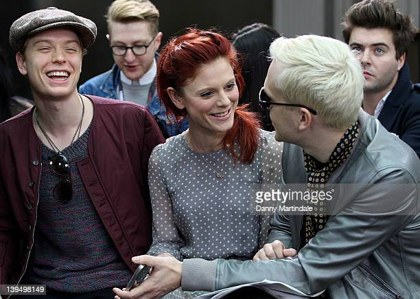 Freddie Fox Emilia Fox and singer Mr Hudson are seen at the front row at the Topman Autumn/Winter 2012 show at London Fashion Week at The Royal Opera...