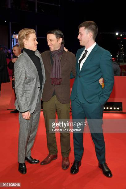 Freddie Fox Lance Daly and James Frecheville attend the 'Black 47' premiere during the 68th Berlinale International Film Festival Berlin at Berlinale...