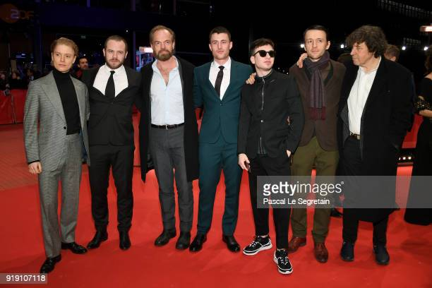 Freddie Fox Moe Dunford Hugo Weaving James Frecheville Barry Keoghan Lance Daly and Stephen Rea attend the 'Black 47' premiere during the 68th...