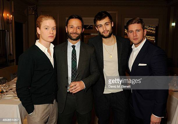 Freddie Fox MR PORTER editorinchief Jeremy Langmead Douglas Booth and Allen Leech attend an exclusive dinner hosted by Mulberry and MR PORTER to...