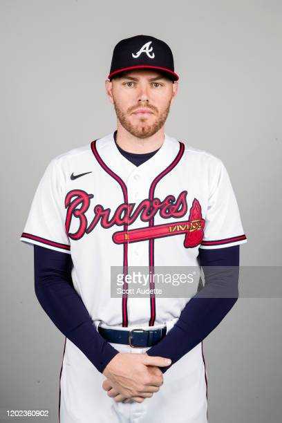 Freddie Freeman of the Atlanta Braves poses during Photo Day on Thursday, February 20, 2020 at Cool Today Park in North Port, Florida.