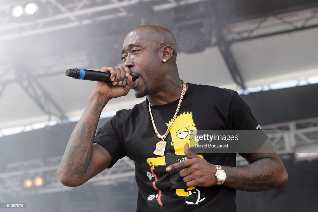 Freddie Gibbs performs during Pitchfork Music Festival 2015 at Union Park on July 19, 2015 in Chicago, United States.