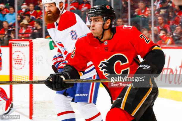 Freddie Hamilton of the Calgary Flames in a game against the Montreal Canadiens on December 22 2017 at the Scotiabank Saddledome in Calgary Alberta...