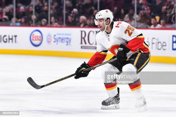 Freddie Hamilton of the Calgary Flames skates against the Montreal Canadiens during the NHL game at the Bell Centre on December 7 2017 in Montreal...