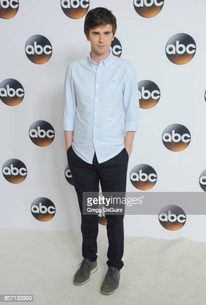 Freddie Highmore arrives at the 2017 Summer TCA Tour Disney ABC Television Group at The Beverly Hilton Hotel on August 6 2017 in Beverly Hills...