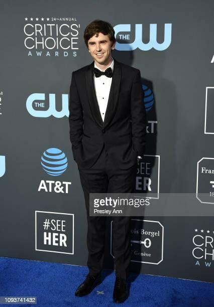 Freddie Highmore at The 24th Annual Critics' Choice Awards at Barker Hangar on January 13 2019 in Santa Monica California