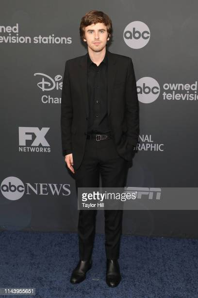Freddie Highmore attends the 2019 ABC Walt Disney Television Upfront at Tavern on the Green on May 14 2019 in New York City