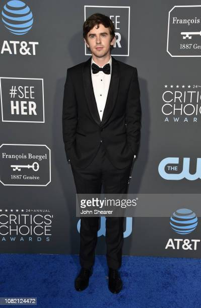Freddie Highmore attends the 24th Annual Critics' Choice Awards at Barker Hangar on January 13 2019 in Santa Monica California