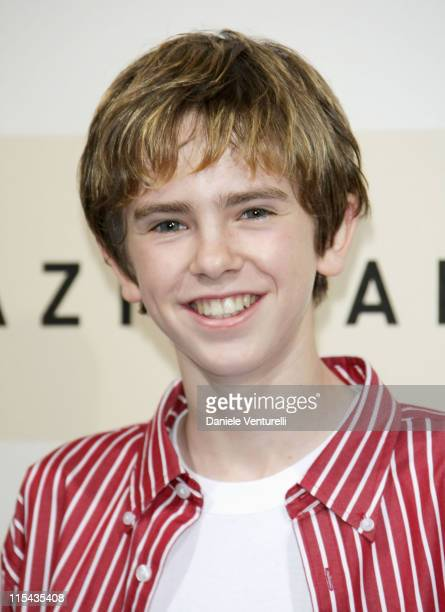 Freddie Highmore attends the August Rush photocall during Day 3 of the 2nd Rome Film Festival on October 20 2007 in Rome Italy