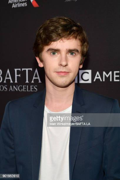 Freddie Highmore attends The BAFTA Los Angeles Tea Party at Four Seasons Hotel Los Angeles at Beverly Hills on January 6 2018 in Los Angeles...