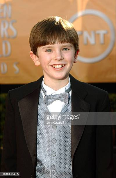 Freddie Highmore during 2005 Screen Actors Guild Awards Arrivals at The Shrine in Los Angeles California United States