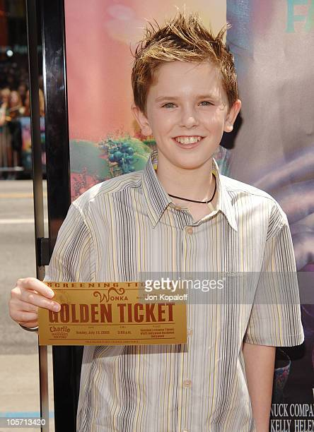Freddie Highmore during 'Charlie and the Chocolate Factory' Los Angeles Premiere Arrivals at Grauman's Chinese Theater in Hollywood California United...