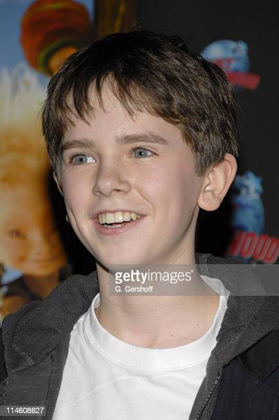 Freddie Highmore during Jewel and Freddie Highmore Visit Planet Hollywood Times Square to Donate Memorabilia from 'Arthur and the Invisibles' at...