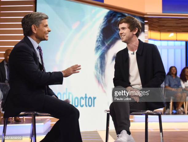 AMERICA Freddie Highmore is a guest on 'Good Morning America' Friday September 21 2018 on the ABC Television Network GEORGE