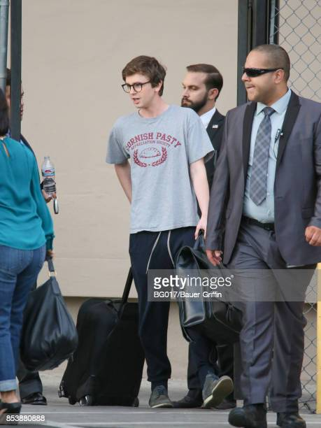 Freddie Highmore is seen at 'Jimmy Kimmel Live' on September 25 2017 in Los Angeles California