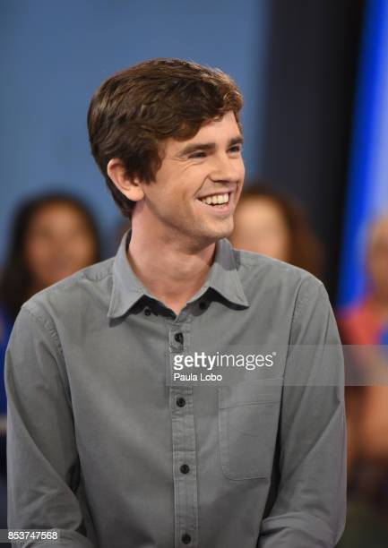 AMERICA Freddie Highmore of Walt Disney Television via Getty Images's The Good Doctor is a guest on Good Morning America Monday September 25 airing...