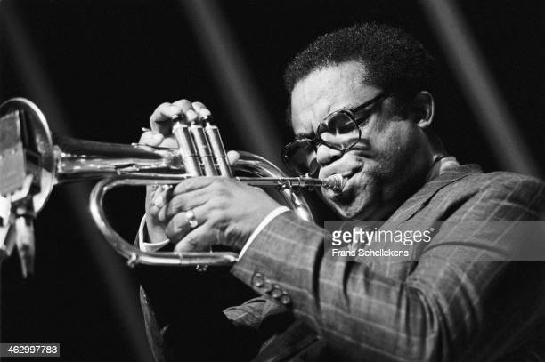 Freddie Hubbard, trumpet, performs at the North Sea Jazz Festival in the Hague, the Netherlands on 12 July 1990.