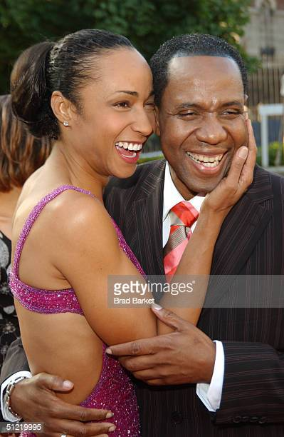 Freddie Jackson and Crystal Blake arrive at the National Black Sports and Entertainment Hall of Fame at Aaron Davis Hall on August 25 2004 in New...