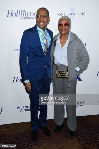 Freddie Jackson and Dionne Warwick attend The Hollywood Reporter 35 Most Powerful People In Media 2017 at The Pool on April 13 2017 in New York City