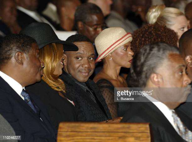 Freddie Jackson at the funeral service for Luther Vandross on Friday July 8 2005