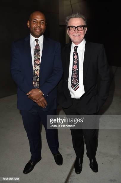 Freddie Jones and Martin Fassnidge attend the Israel Philharmonic Orchestra Los Angeles Gala Honoring Zubin Mehta at Walt Disney Concert Hall on...