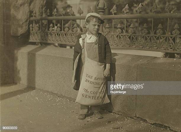 Freddie Kafer, a very immature little newsie selling Saturday Evening Posts and newspapers at the entrance to the State Capitol. He did not know his...
