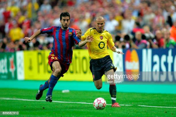 OLEGUER / Freddie LJUNGBERG Fc Barcelone / Arsenal Finale de la Ligue des Champions Stade de France Paris