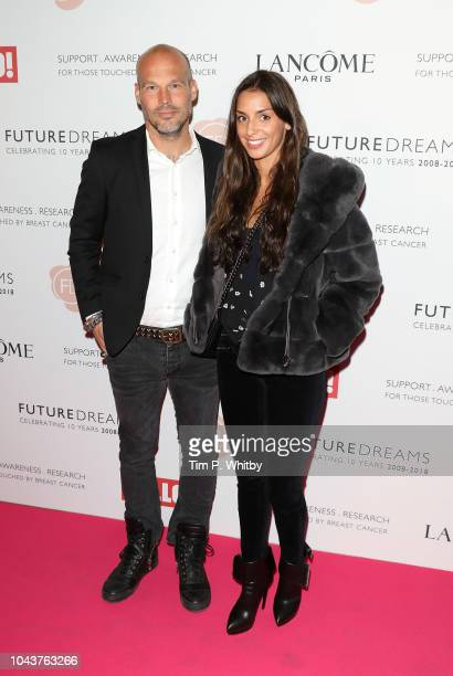 Freddie Ljungberg and Natalie Foster arrive at 'TEN A Decade of Dreams' at London Palladium on September 30 2018 in London England The Event is in...