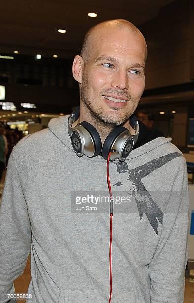 Freddie Ljungberg arrives at Narita International Airport on June 7 2013 in Narita Japan