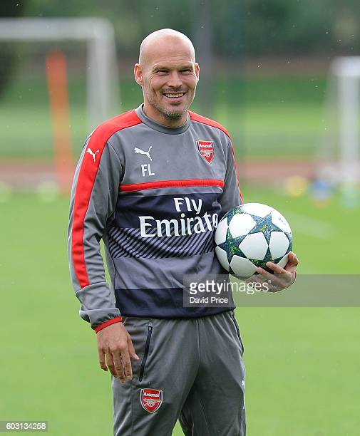 Freddie Ljungberg Arsenal coach during the Arsenal UEFA Youth League Training Session at London Colney on September 12 2016 in St Albans England