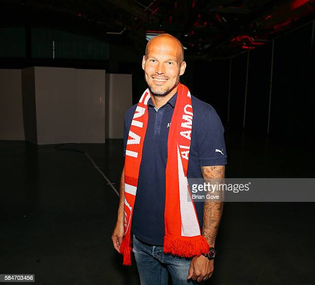 Freddie Ljungberg attends PUMA and Arsenal Football Club 2016/17 AFC away rhird kit reveal Event and on July 29 2016 in Culver City California