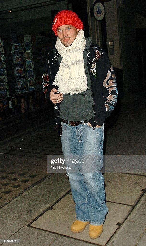 Freddie Ljungberg Sighting at Mayfair in London - November 19, 2005
