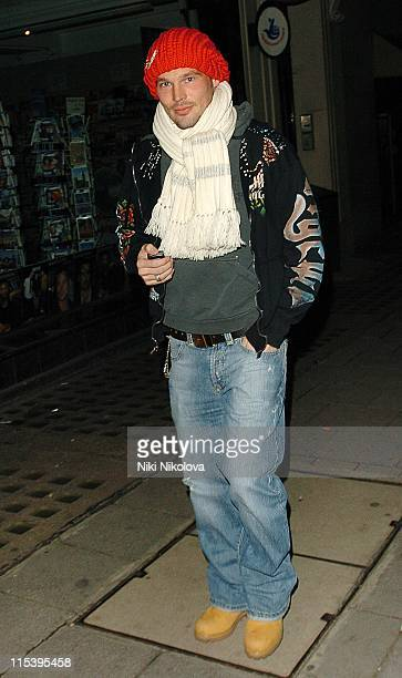 Freddie Ljungberg *Exclusive Coverage* during Freddie Ljungberg Sighting at Mayfair in London November 19 2005 at Mayfair in London Great Britain