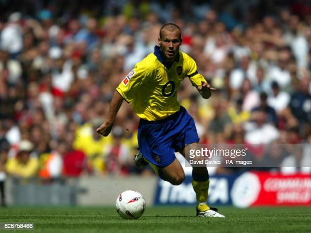 Freddie Ljungberg in action for Arsenal during the FA Community Shield match against Manchester Utd at the Millennium Stadium in Cardiff Wales THIS...