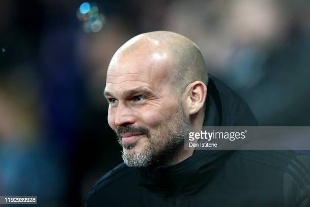 Freddie Ljungberg Interim Manager of Arsenal during the Premier League match between West Ham United and Arsenal FC at London Stadium on December 09...