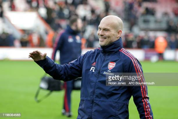 Freddie Ljungberg of Arsenal before the Premier League match between AFC Bournemouth and Arsenal FC at Vitality Stadium on December 26 2019 in...