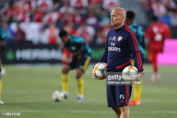 Freddie Ljungberg of Arsenal the Assistant firstteam coach during the 2019 International Champions Cup match between Arsenal and FC Bayern Munich at...