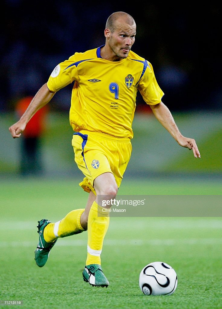Freddie Ljungberg of Sweden in action during the FIFA World Cup Germany 2006 Group B match between Sweden and Paraguay played at the Olympic Stadium on June 15, 2006 in Berlin, Germany.