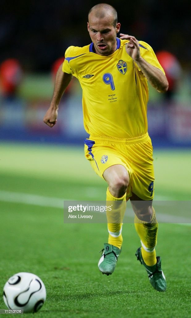 Freddie Ljungberg of Sweden surges forward during the FIFA World Cup Germany 2006 Group B match between Sweden and Paraguay played at the Olympic Stadium on June 15, 2006 in Berlin, Germany.