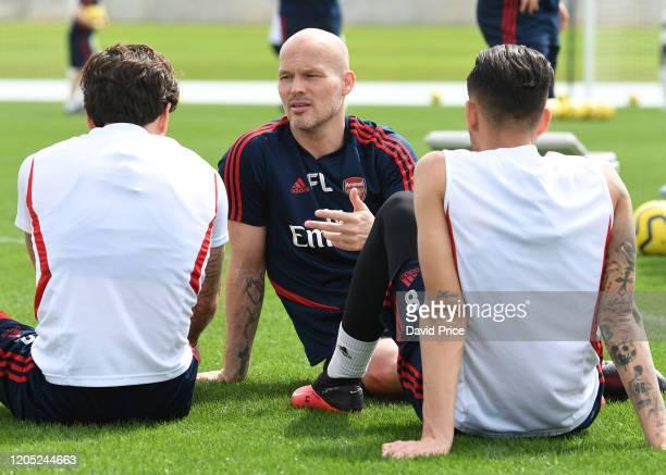 Freddie Ljungberg the Arsenal 1st team coach during the Arsenal Training Session on February 10 2020 in Dubai United Arab Emirates