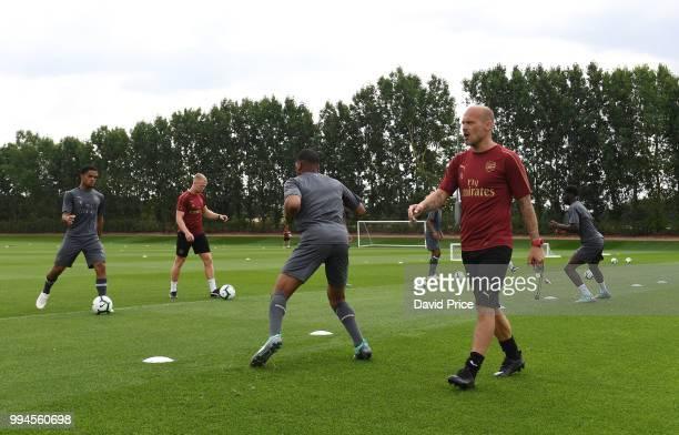 Freddie Ljungberg the Arsenal U23 Head Coach at London Colney on July 9 2018 in St Albans England