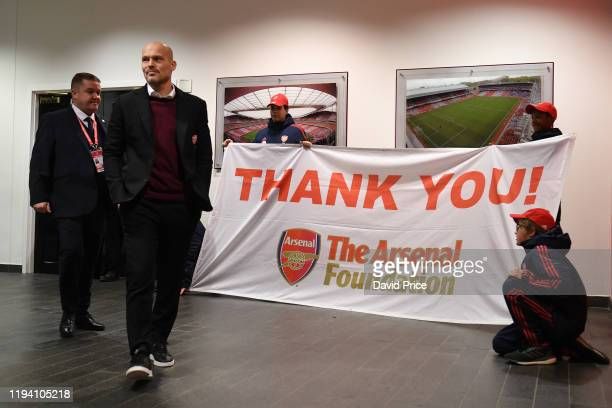 Freddie Ljungberg the Interim Arsenal Manager before the Premier League match between Arsenal FC and Manchester City at Emirates Stadium on December...