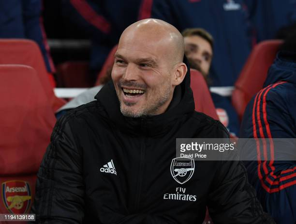Freddie Ljungberg the Interim Head Coach before the Premier League match between Arsenal FC and Manchester City at Emirates Stadium on December 15...