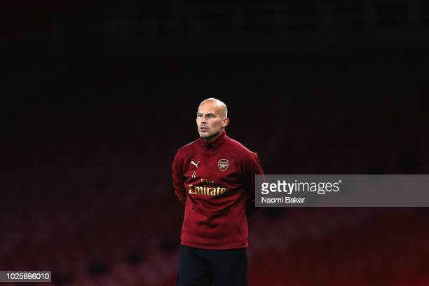 Freddie Ljungberg U23s Head Coach of Arsenal looks on during the Premier League 2 match between Arsenal and Tottenham Hotspur at Emirates Stadium on...